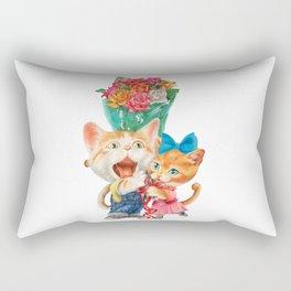 Present a bunch of roses Rectangular Pillow