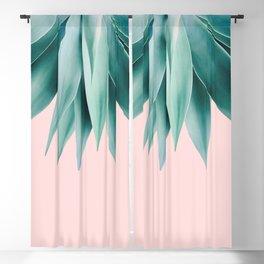 Agave fringe - blush Blackout Curtain