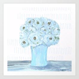 Boho still life flowers in vase Art Print