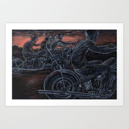 Blood in the Water Art Print