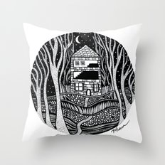 ONE FALL NIGHT Throw Pillow