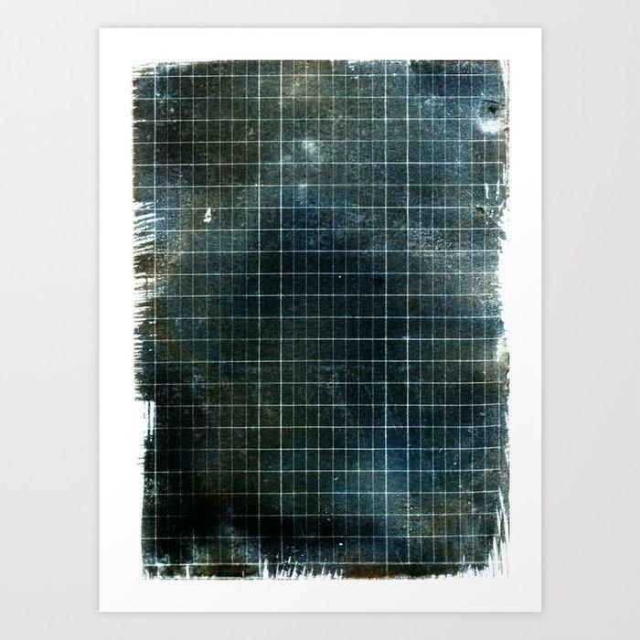 Weathered Grid Art Print