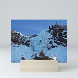 Frozen Waterfall Mini Art Print