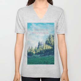 Consider How the Wildflowers Grow Unisex V-Neck