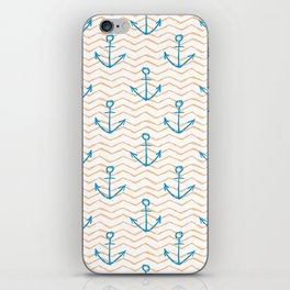 Anchors and waves iPhone Skin
