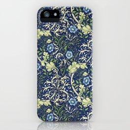 William Morris Blue Daisies iPhone Case
