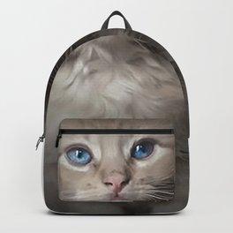 Blue Eyed Kitten Backpack
