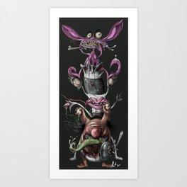 Ahhh real monsters Art Print