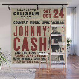 Johnny Cash poster Wall Mural