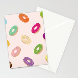Donuts Pattern | Pastel Pink Stationery Cards