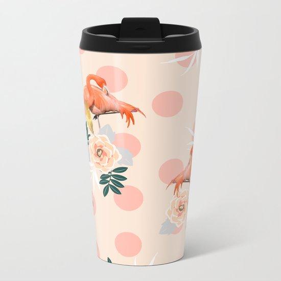 Flamingo Jazz #society6 #decor #pattern Metal Travel Mug