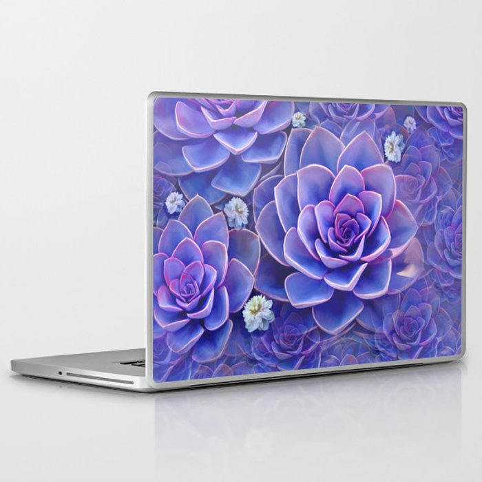 """Bouquet of pastel violet exotic succulents"" Laptop & iPad Skin"
