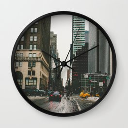 Winter In the Streets Wall Clock