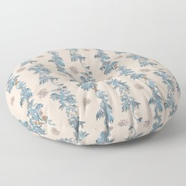 Secret Dancers in Cream ( leafy sea dragon in blue and cream ) Floor Pillow