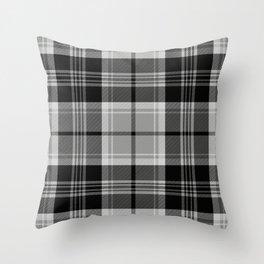 Black & White Tartan (var. 2) Throw Pillow
