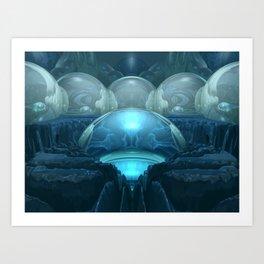 Inside A Blue Moon Art Print
