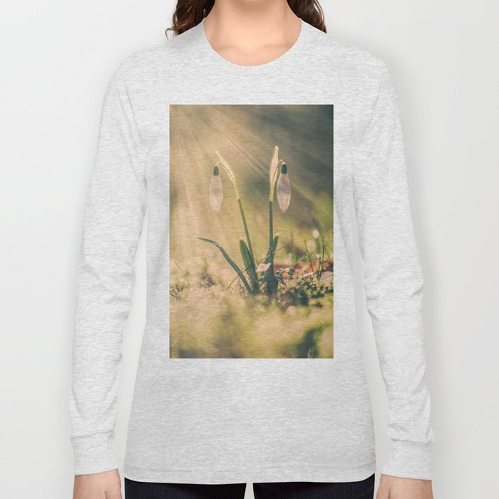 Shining snowdrop - Flower Sun Light Spring Long Sleeve T-shirt