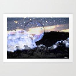 Cloudy Night Art Print