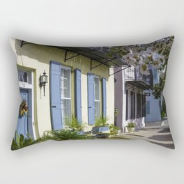 Charleston SC No.3 House on Rainbow Row Rectangular Pillow