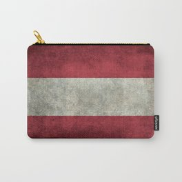 Austrian National Flag - Vintage Version Carry-All Pouch