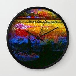 Easel Abstract 2 Wall Clock