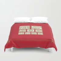 princess bride Duvet Covers featuring The Princess Bride by MacGuffin Designs