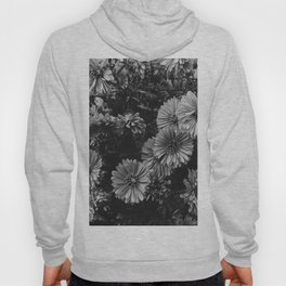 FLOWERS - FLORAL - BLACK AND WHITE Hoody