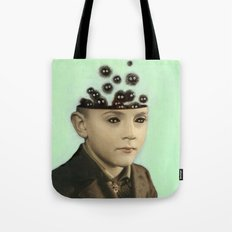 Fur Brains - Hand Painted Vintage Photography Tote Bag
