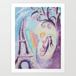 Permanence in Paris - Abstract painting Art Print