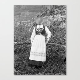 Miss Onion by the bushes. 1915. Canvas Print