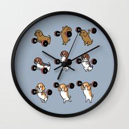 Olympic Lifting Beagles Wall Clock