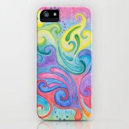 Whirls N Swirls iPhone Case