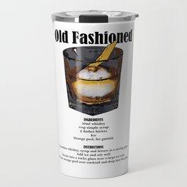 Old Fashioned - Classic Cocktail Recipe Travel Mug