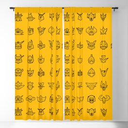 071 70s Robots Blackout Curtain