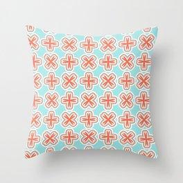 Summer Cross Throw Pillow