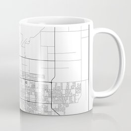 Minimal City Maps - Map Of Palmdale, California, United States Coffee Mug