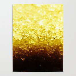Golden Yellow Ombre Crystals Poster