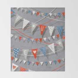 Hate card Throw Blanket