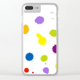 Seamless pattern background with rainbow blots Clear iPhone Case