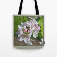 will ferrell Tote Bags featuring APPLE BLOSSOM by Alpine Seaside Landscapes