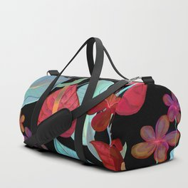 Ninght Red Flowers Duffle Bag