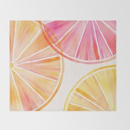 Summer Citrus Party Throw Blanket