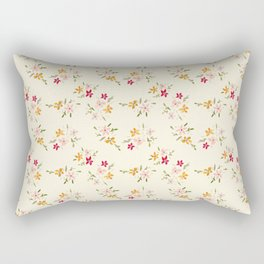 Wes Anderson Inspired Floral Bouquets Rectangular Pillow