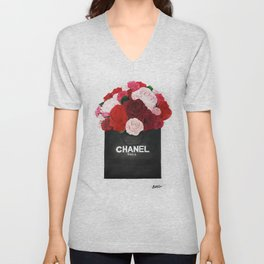 Blooming Roses  Unisex V-Neck