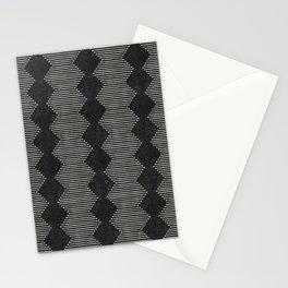mudcloth diamonds - onyx Stationery Cards