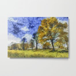 Summer Farm Van Gogh Metal Print