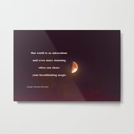 """Half-Moon #26"" with poem: More Than Brilliant Metal Print"