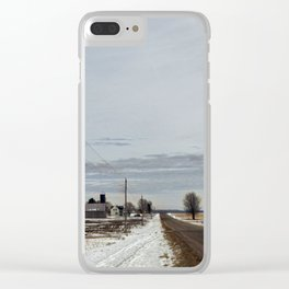 LeFevre Farm, Red River Wisconsin Clear iPhone Case