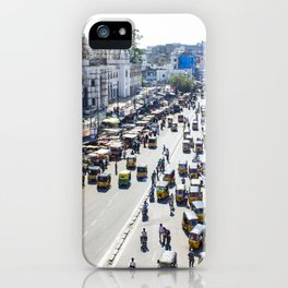 View of the Busy Roads from the Charminar in India iPhone Case