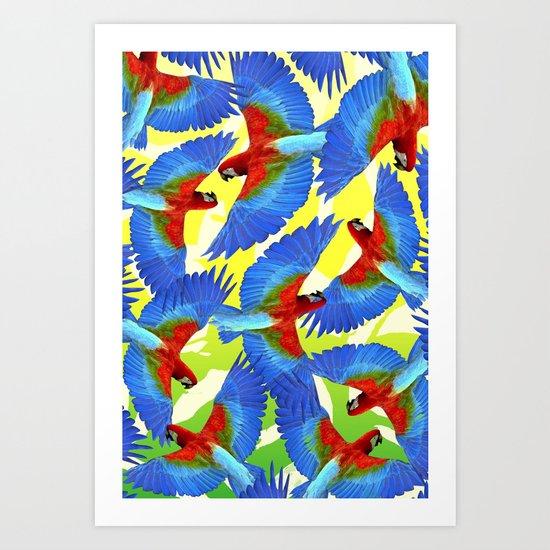 RIO PANTS PARTY Art Print